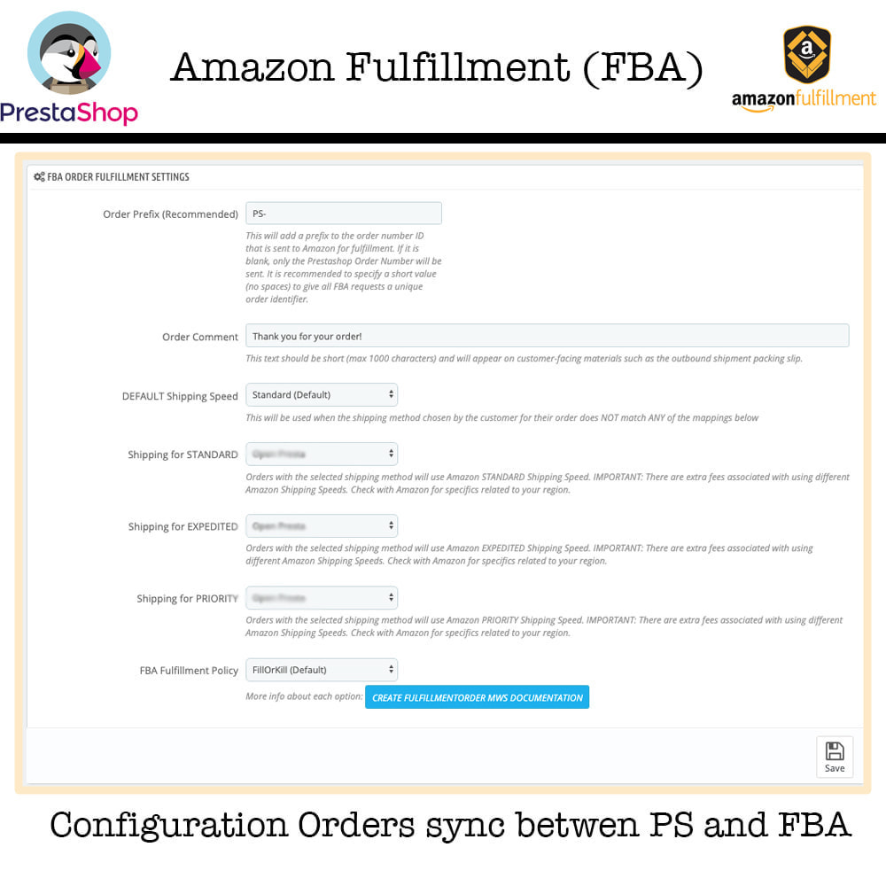 module - Торговая площадка - Amazon Fulfillment (FBA + SP API ) - 5