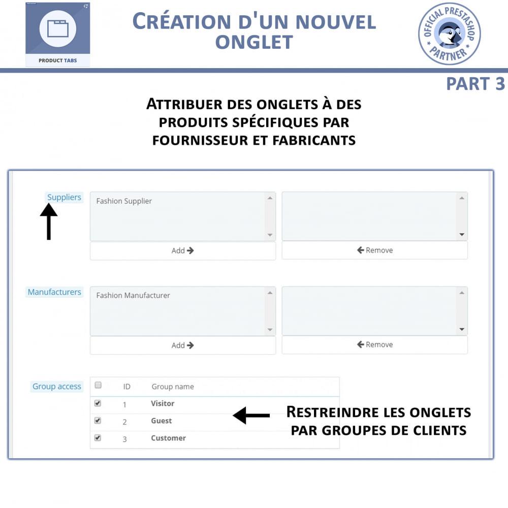 module - Information supplémentaire & Onglet produit - Onglets de Produits - 8