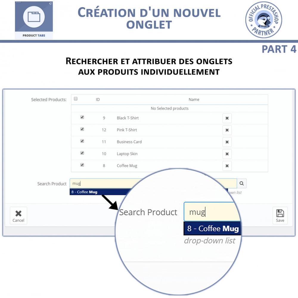 module - Information supplémentaire & Onglet produit - Onglets de Produits - 9