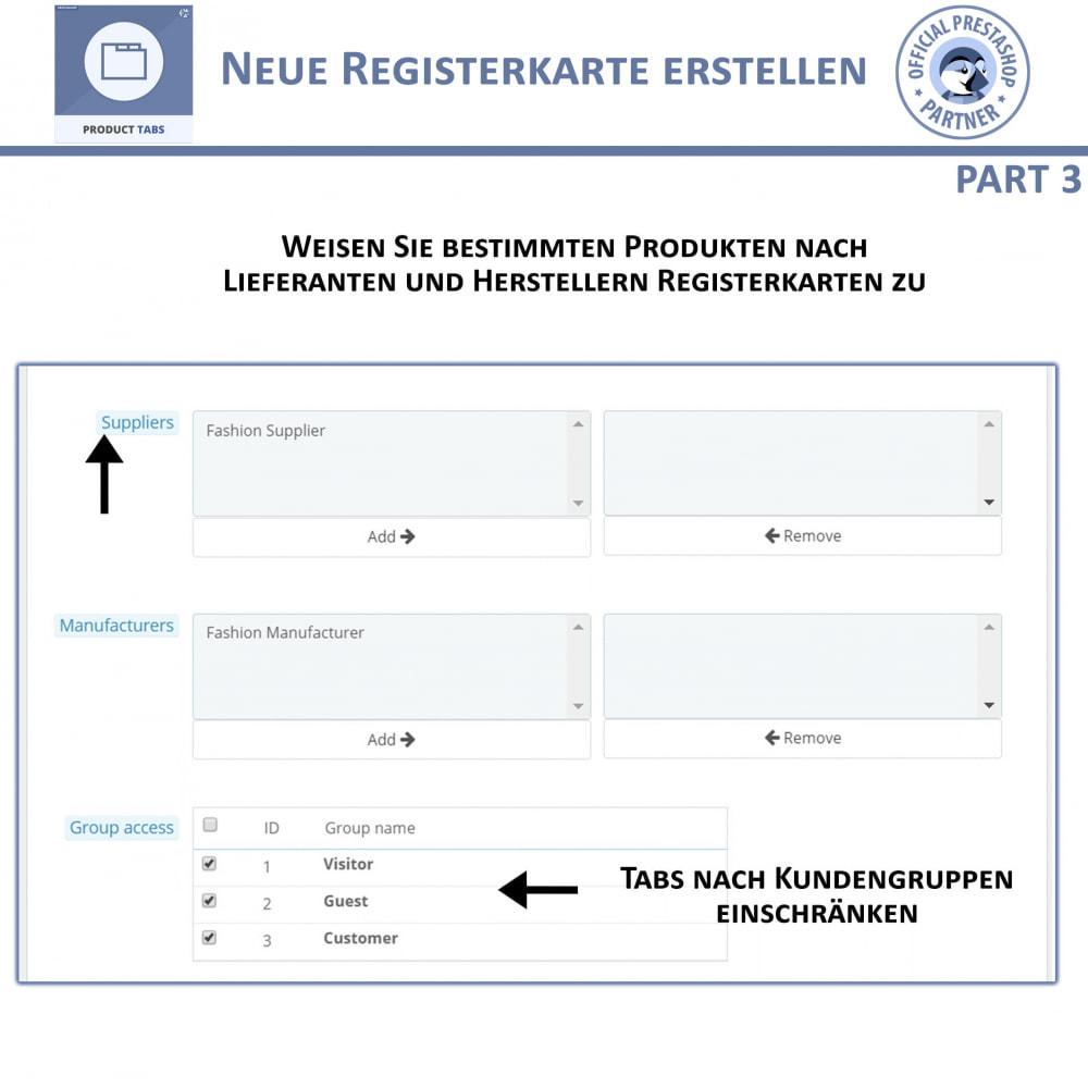 module - Zusatzinformationen & Produkt-Tabs - Produkt Tabs – Fügen Sie zusätzliche Tabs ein - 8