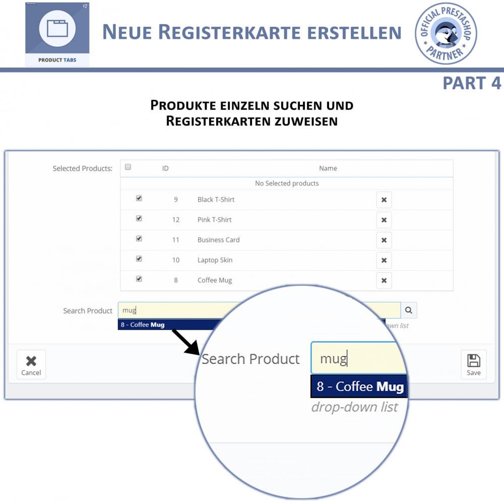 module - Zusatzinformationen & Produkt-Tabs - Produkt Tabs – Fügen Sie zusätzliche Tabs ein - 9