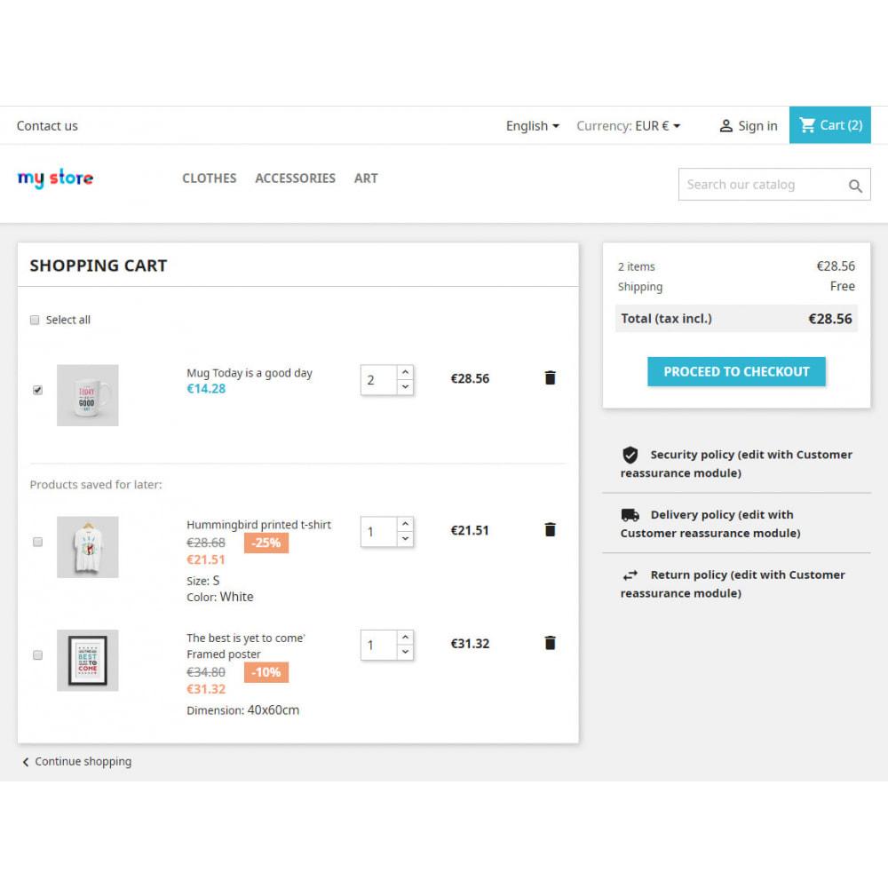 module - Anmeldung und Bestellvorgang - Partial order: checkboxes in Cart - 2