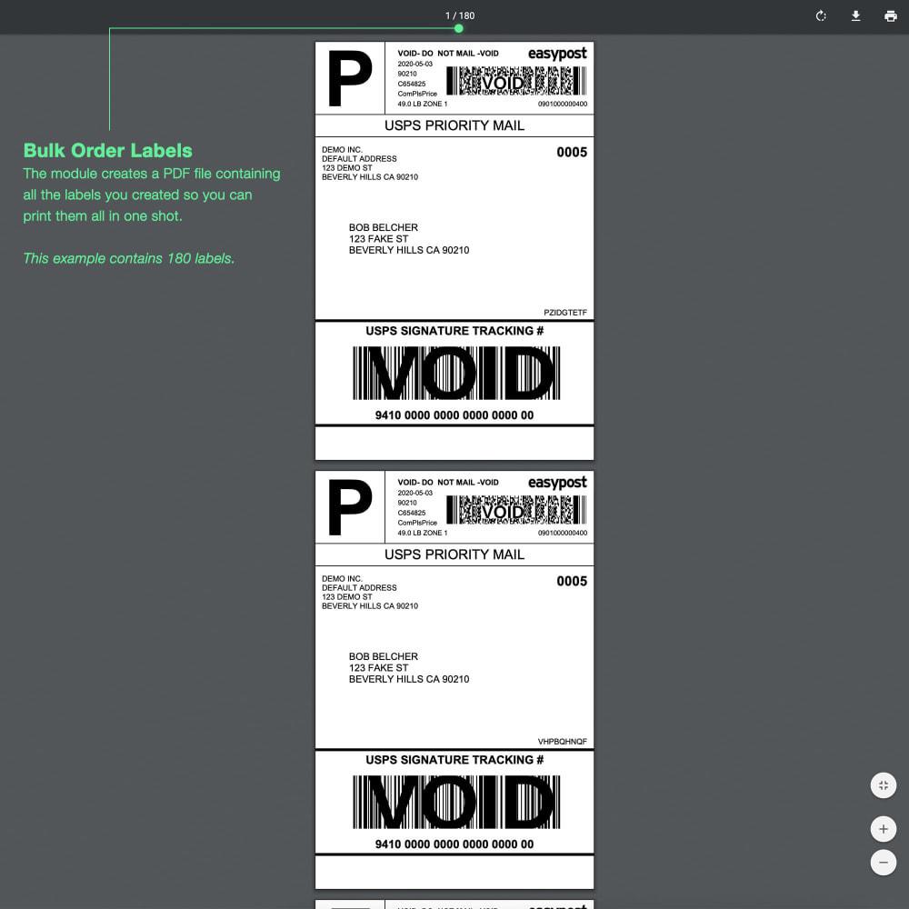 module - Custo de frete - USPS: Rates, Bulk Labels, Returns, Tracking, Estimator - 4