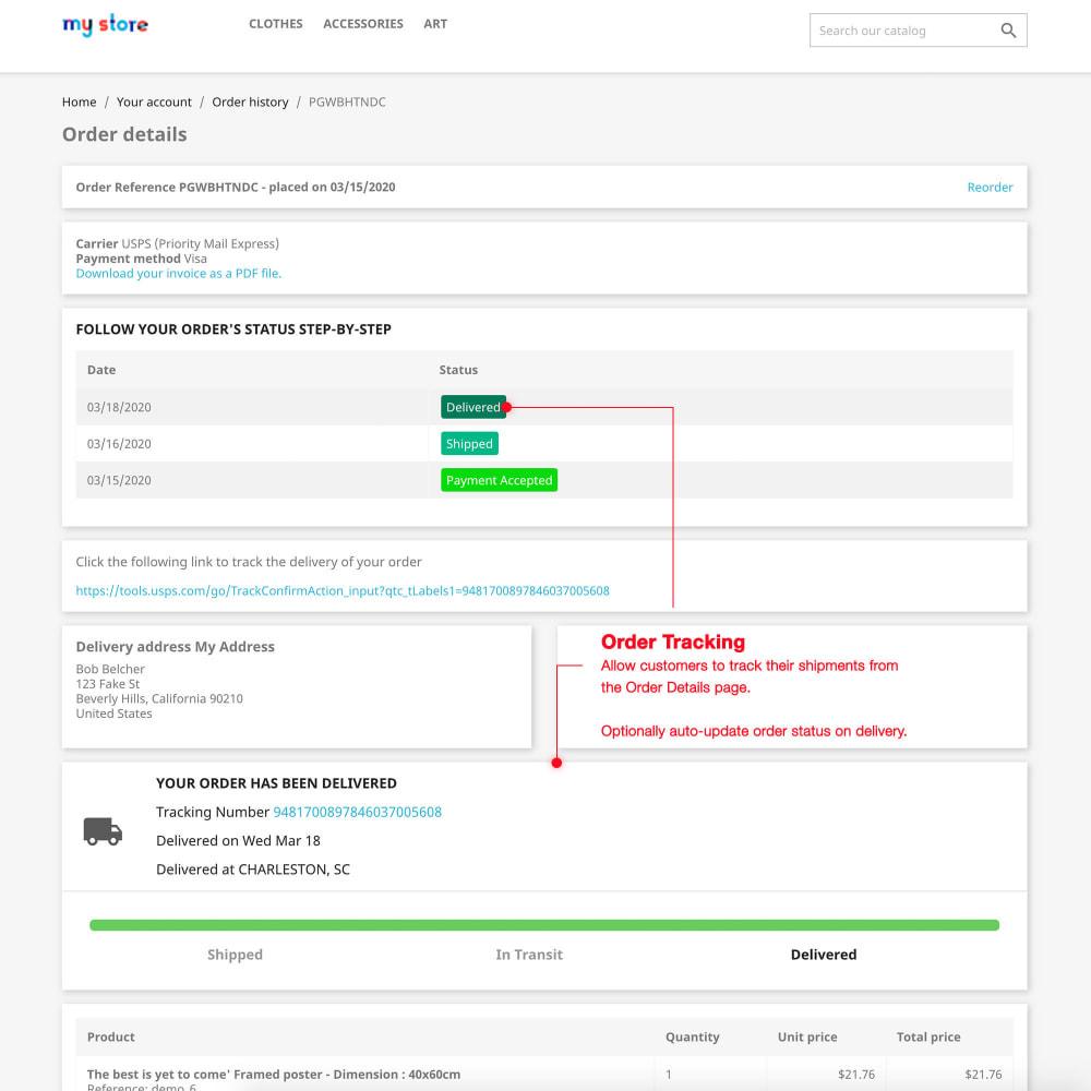 module - Custo de frete - USPS: Rates, Bulk Labels, Returns, Tracking, Estimator - 7