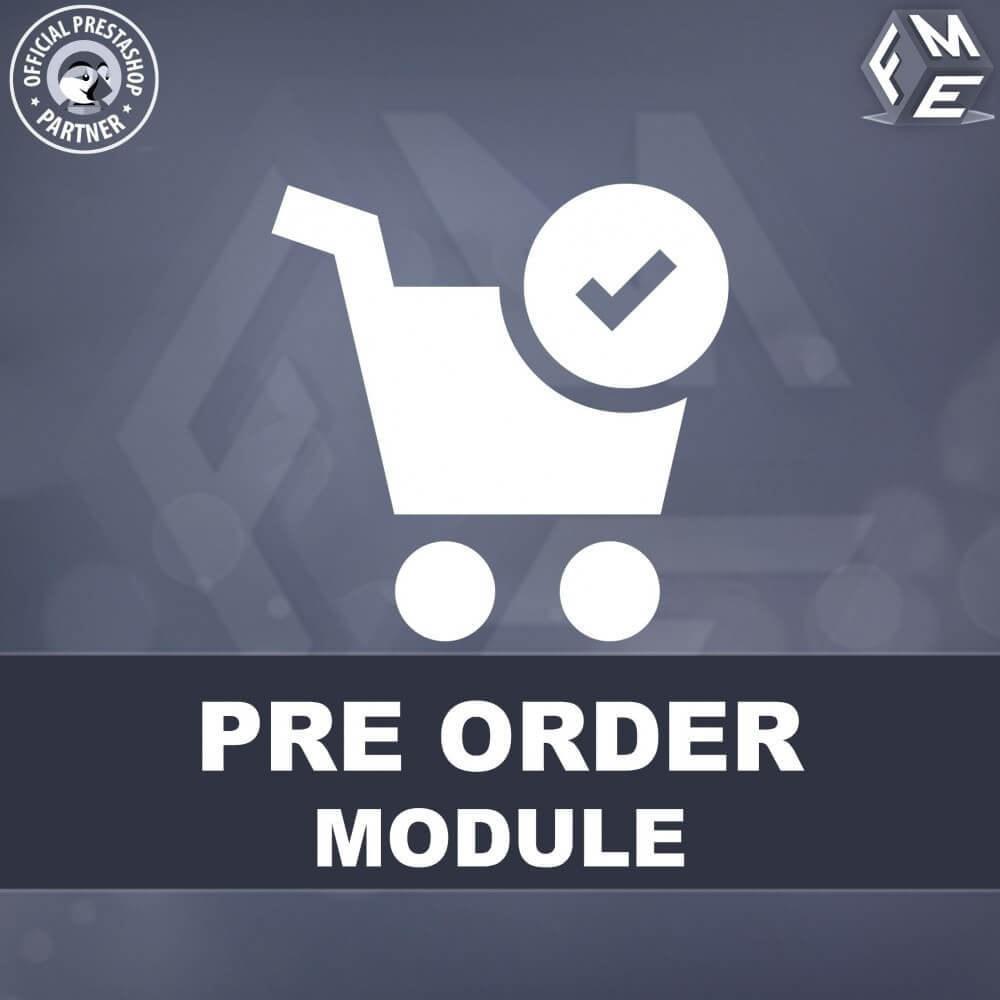 module - Registratie en Proces van bestellingen - Pre-Order - Advance Booking | Out of Stock Selling - 1