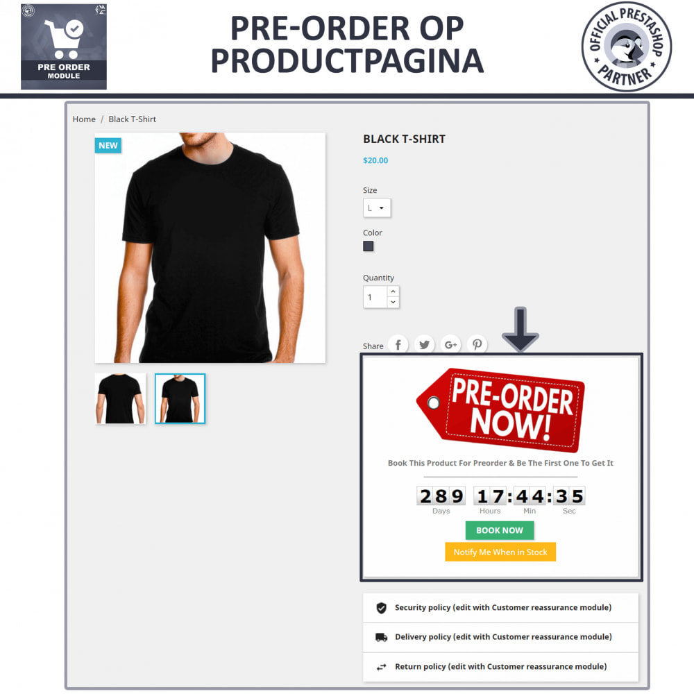module - Registratie en Proces van bestellingen - Pre-Order - Advance Booking | Out of Stock Selling - 3