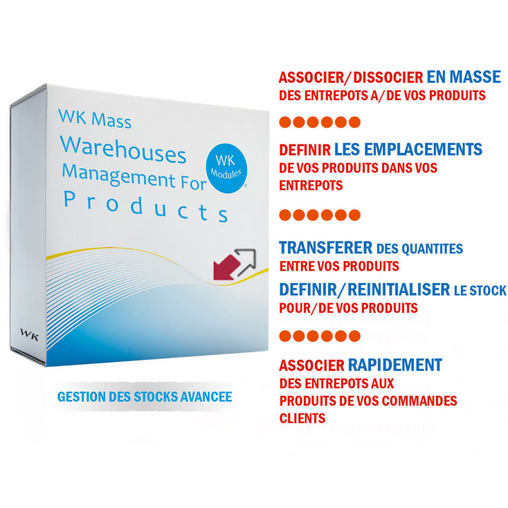 module - Gestion des Stocks & des Fournisseurs - WK Gestion en Masse Entrepôts Pour Produits - 1