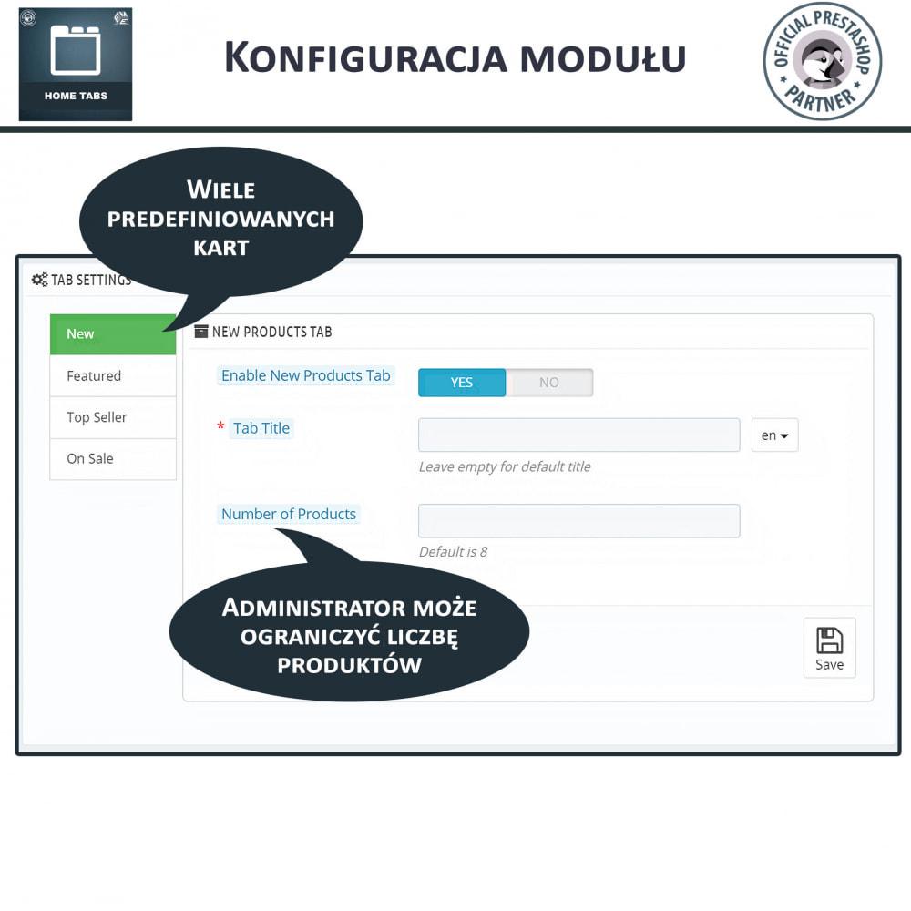 module - Bloki, Zakładki & Banery - HomeTabs - Dodaj niestandardowe karty - 4
