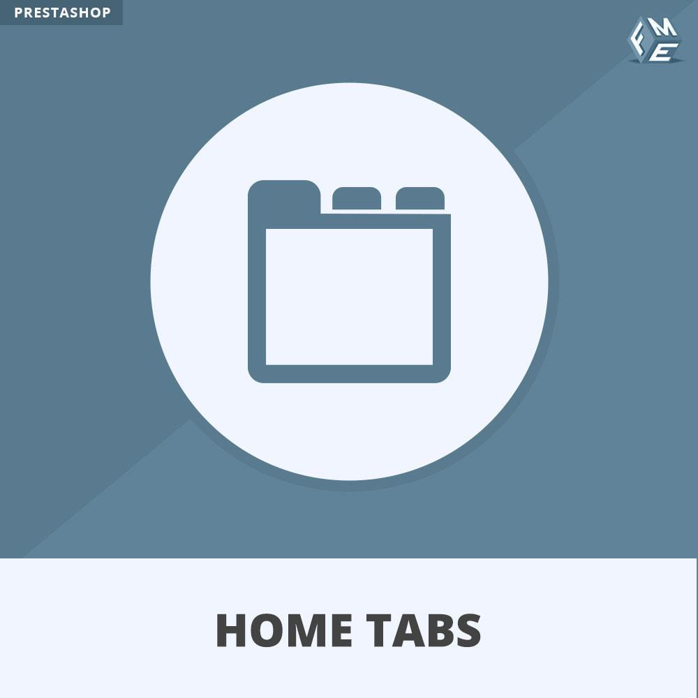 module - Блоки, вкладки и Баннеры - HomeTabs - Добавить пользовательские вкладки - 1