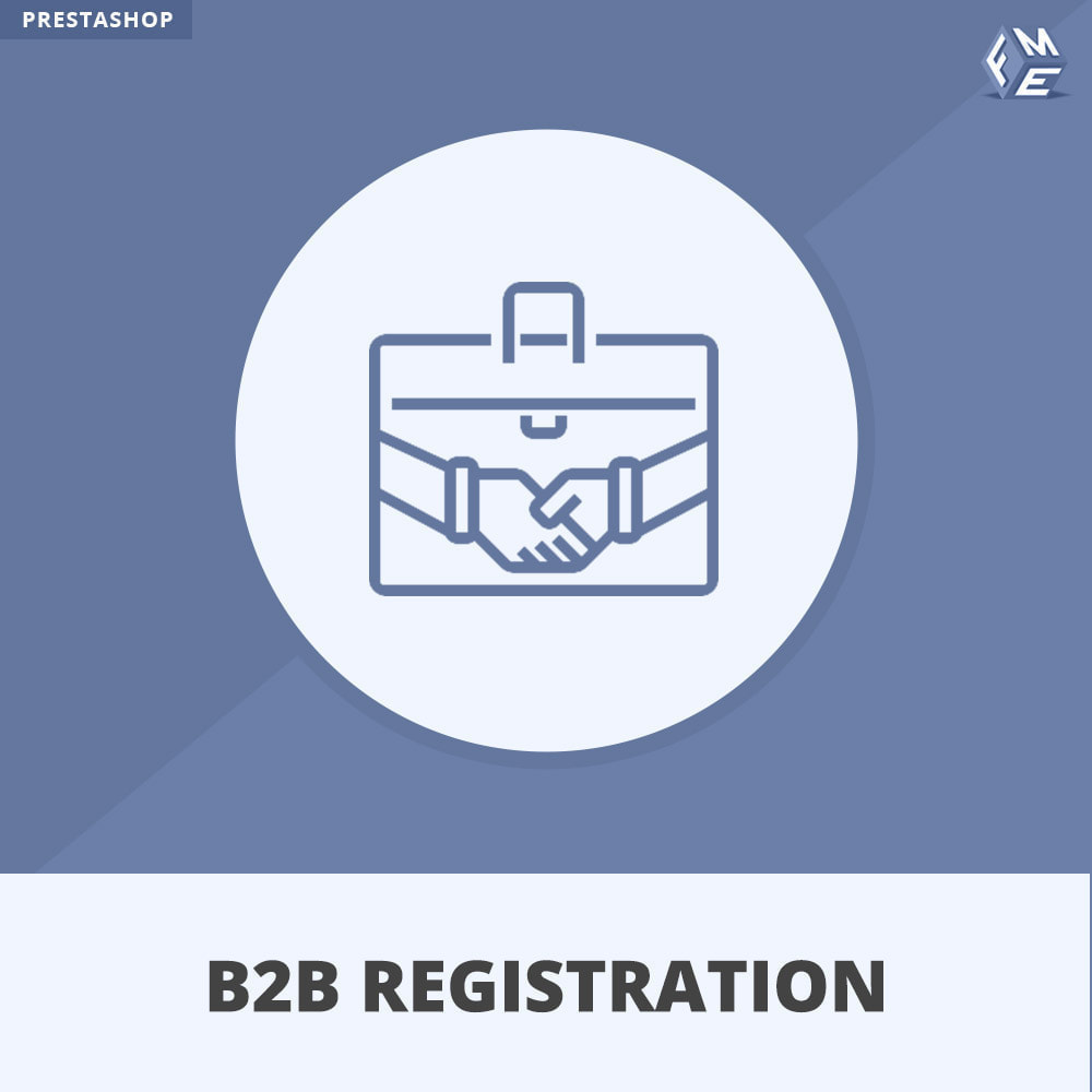 module - Inscription & Processus de commande - Inscription B2B - 1