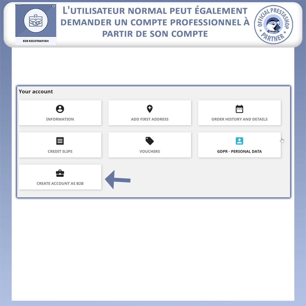 module - Inscription & Processus de commande - Inscription B2B - 7