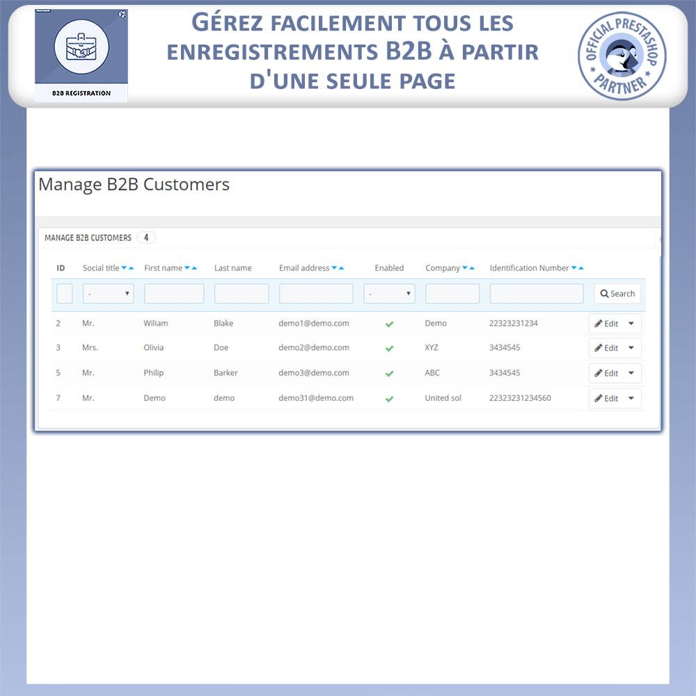 module - Inscription & Processus de commande - Inscription B2B - 8