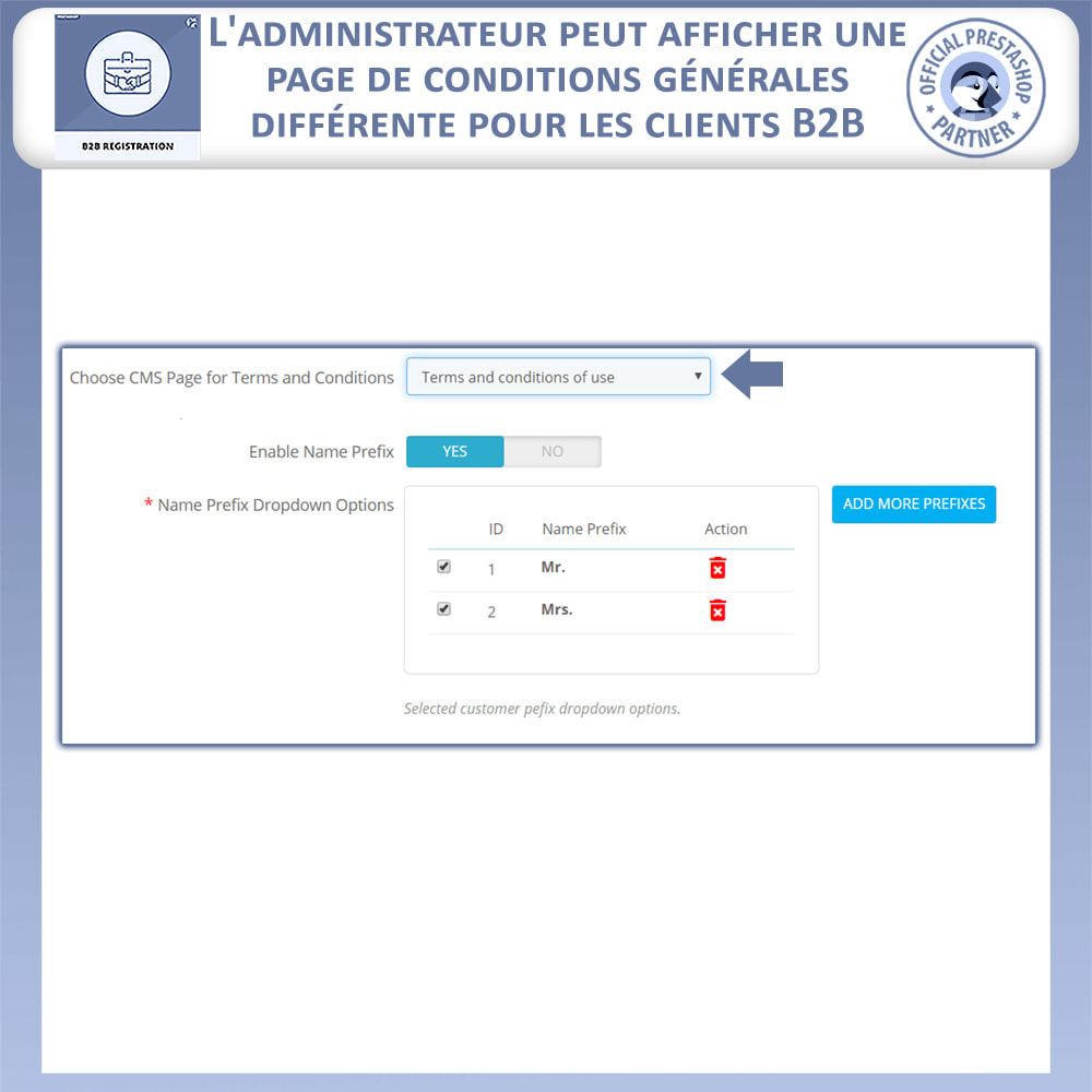 module - Inscription & Processus de commande - Inscription B2B - 10