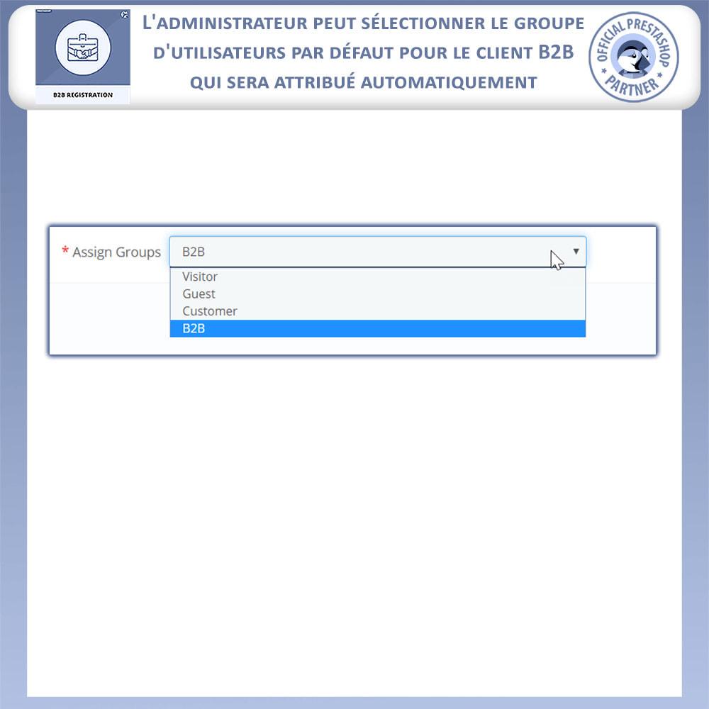 module - Inscription & Processus de commande - Inscription B2B - 11