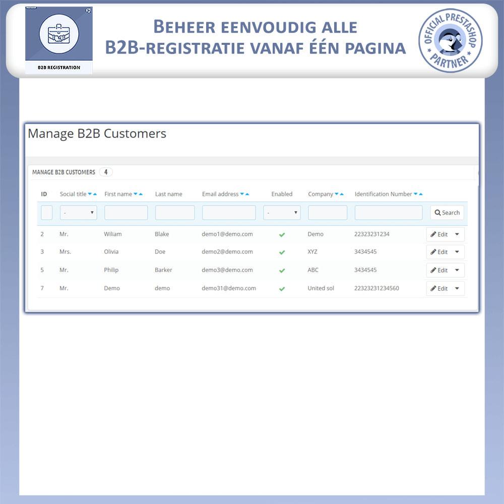 module - Registratie en Proces van bestellingen - B2B Registratie - 8