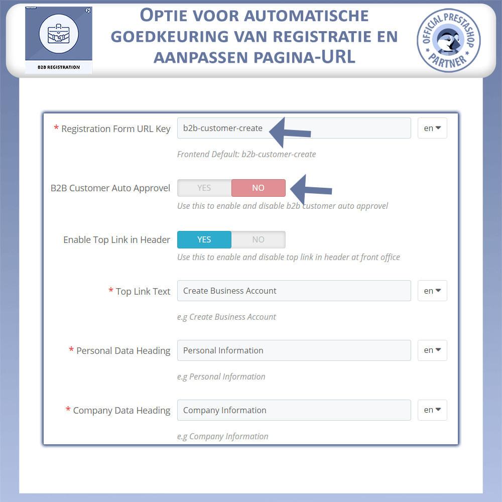 module - Registratie en Proces van bestellingen - B2B Registratie - 9
