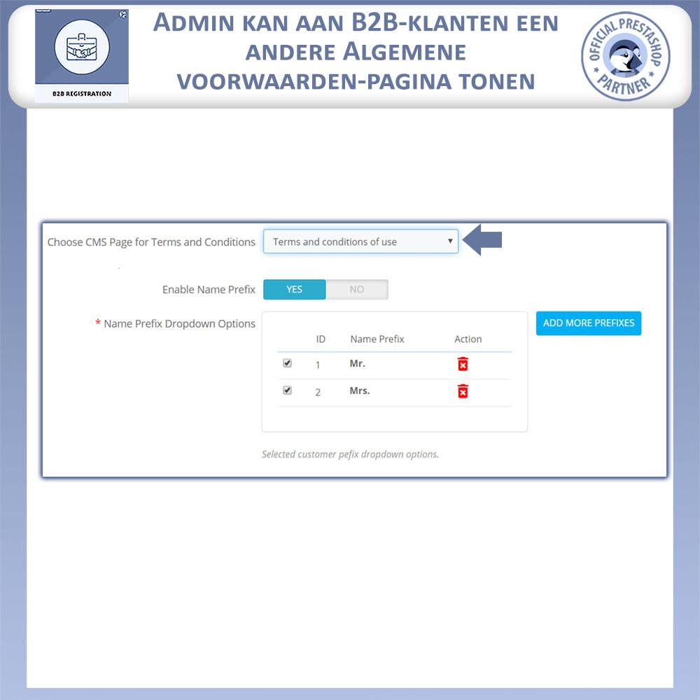 module - Registratie en Proces van bestellingen - B2B Registratie - 10