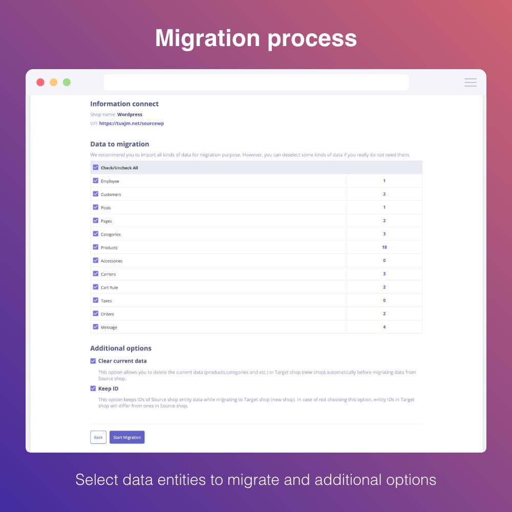 module - Migratie & Backup - Migrate WooCommerce to Prestashop - 4