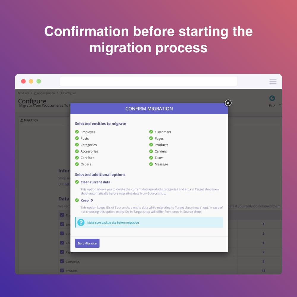 module - Migratie & Backup - Migrate WooCommerce to Prestashop - 5