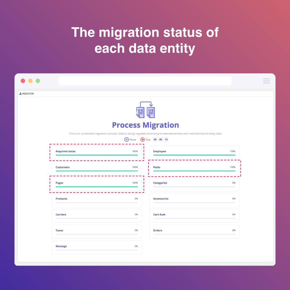module - Migratie & Backup - Migrate WooCommerce to Prestashop - 6