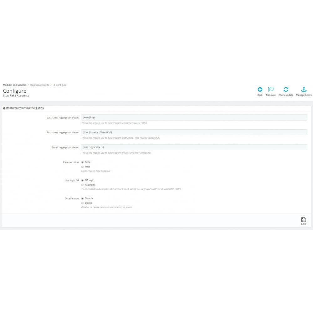 module - Veiligheid & Toegang - Stop Fake Accounts - 1