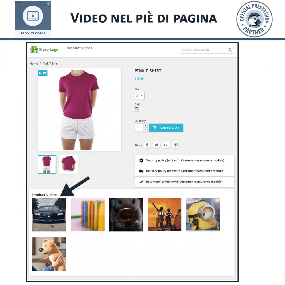 module - Video & Musica - Product Videos - Upload or Embed YouTube, Vimeo - 6