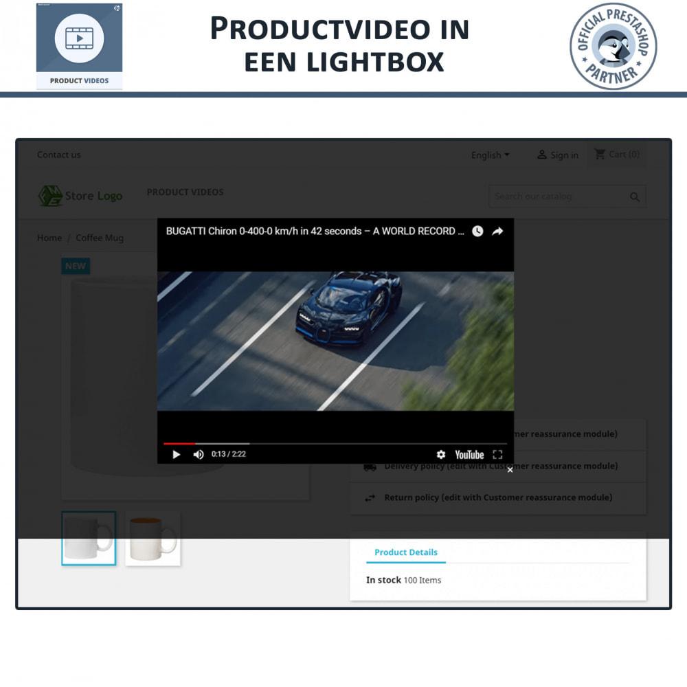 module - Video's & Muziek - Product Videos - Upload or Embed YouTube, Vimeo - 5