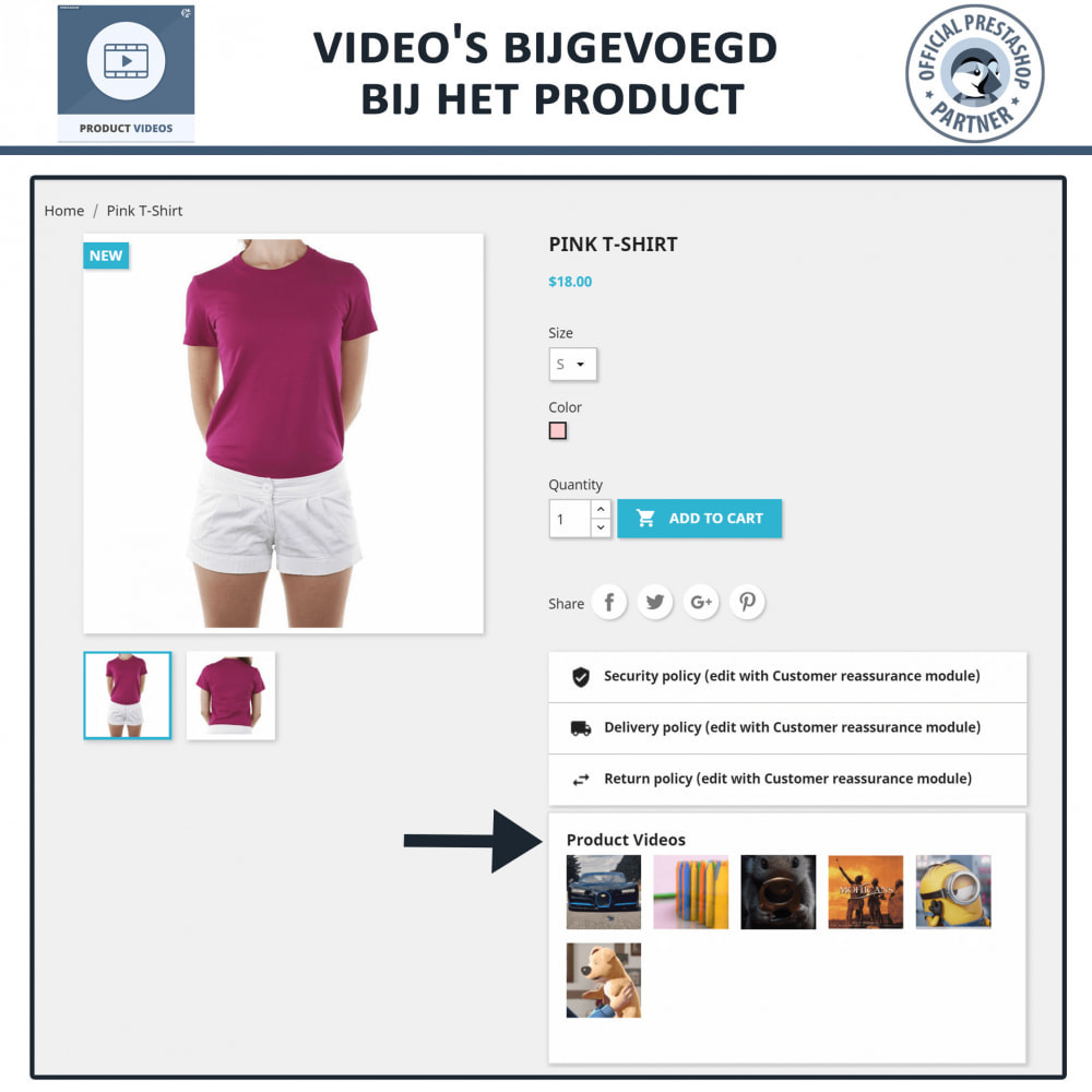 module - Video's & Muziek - Product Videos - Upload or Embed YouTube, Vimeo - 7