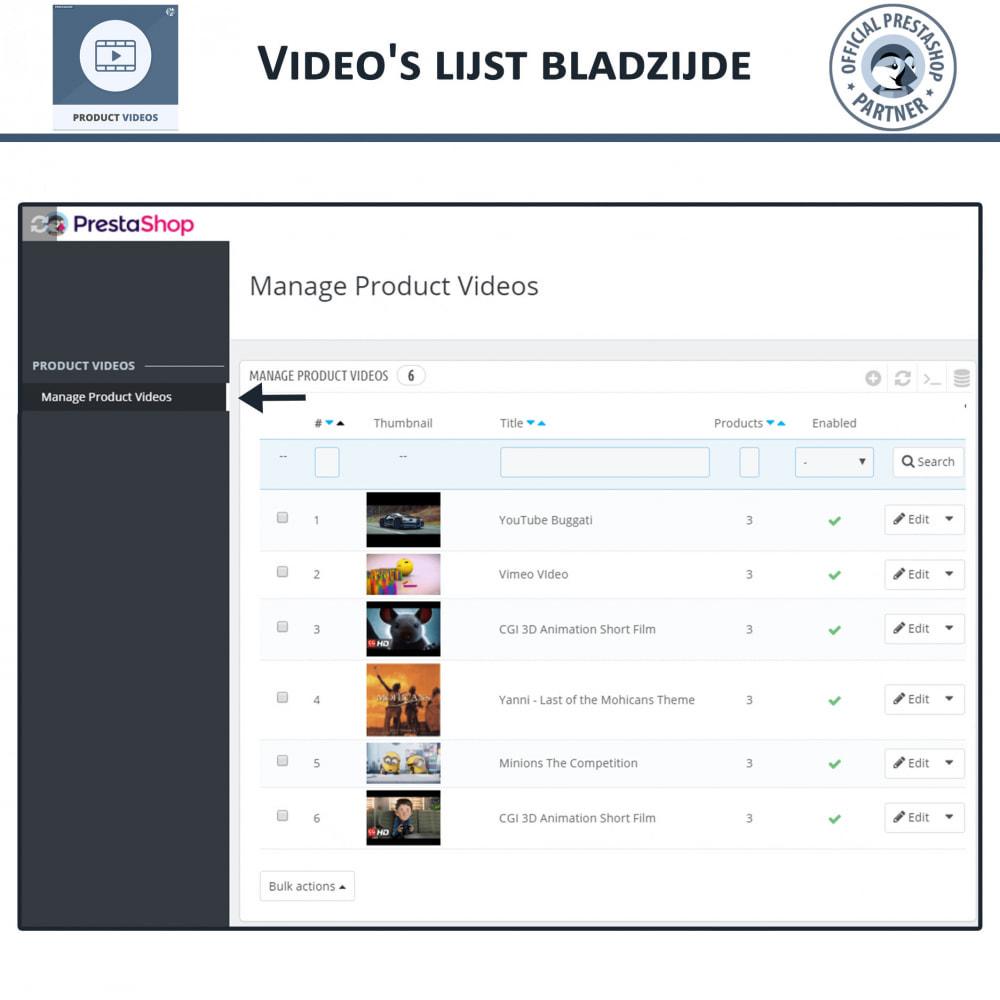 module - Video's & Muziek - Product Videos - Upload or Embed YouTube, Vimeo - 10