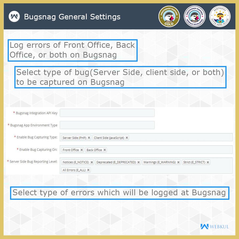 module - Bezpieczeństwa & Dostępu - Bugsnag | Automatically Detects Errors - 3