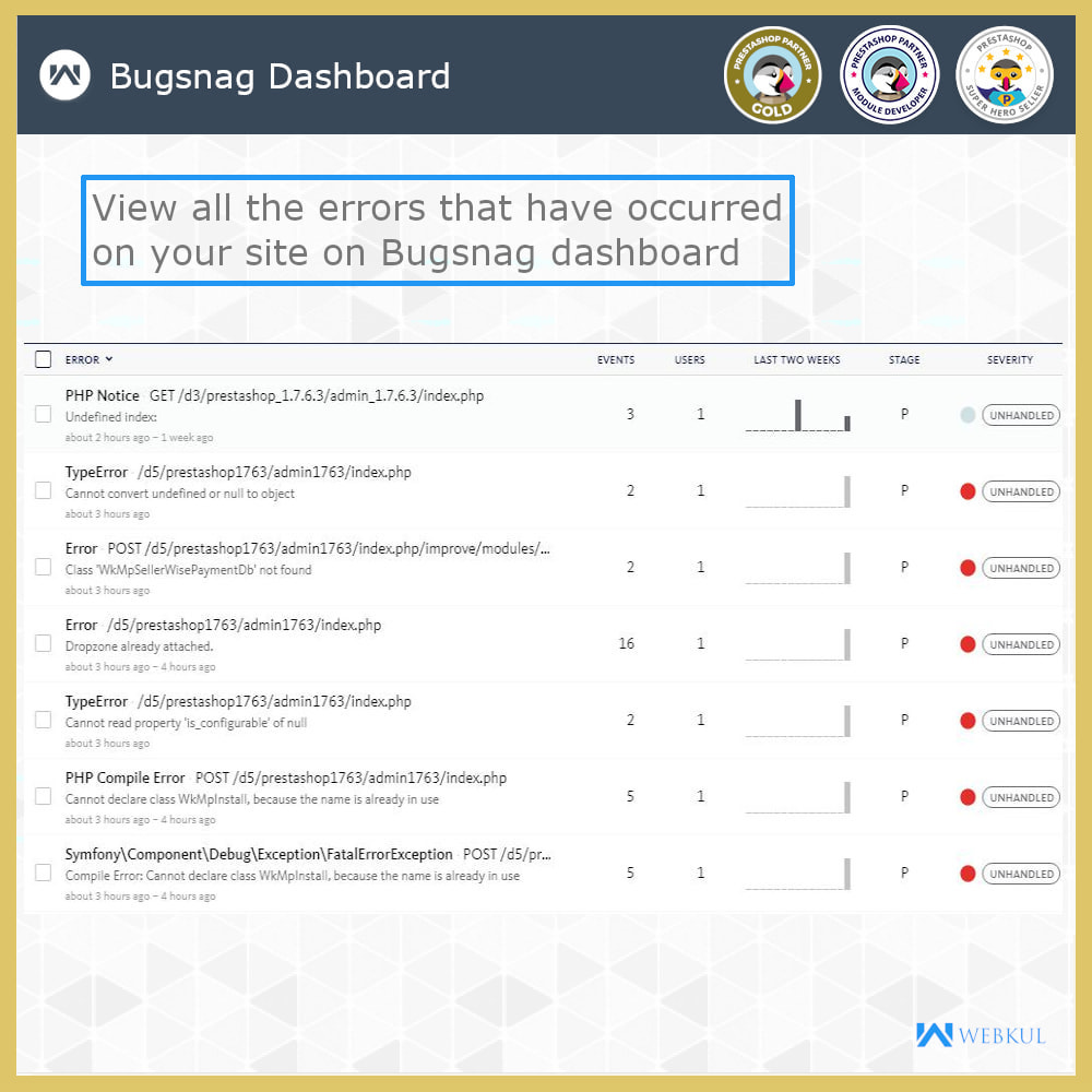 module - Bezpieczeństwa & Dostępu - Bugsnag | Automatically Detects Errors - 4