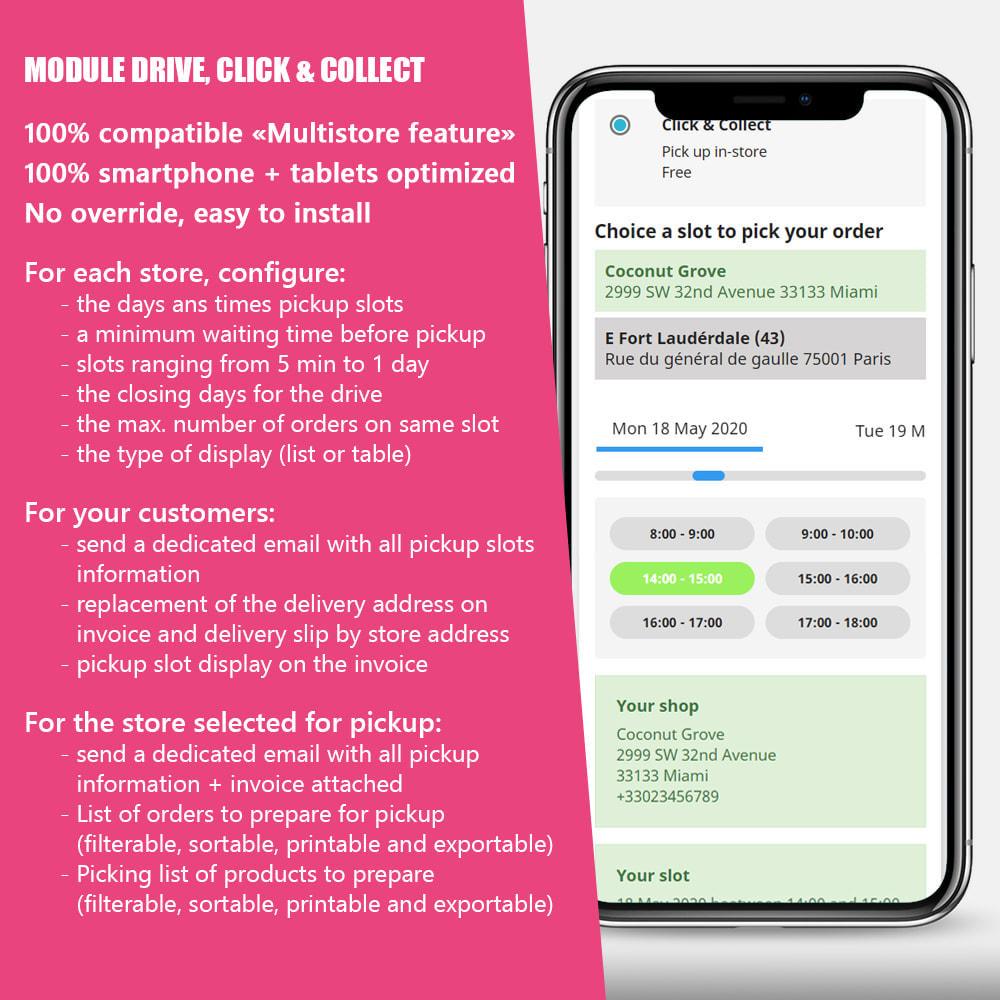 module - Пункты выдачи и Получение в магазине - Drive and Click & Collect / Pick up in-store - 1
