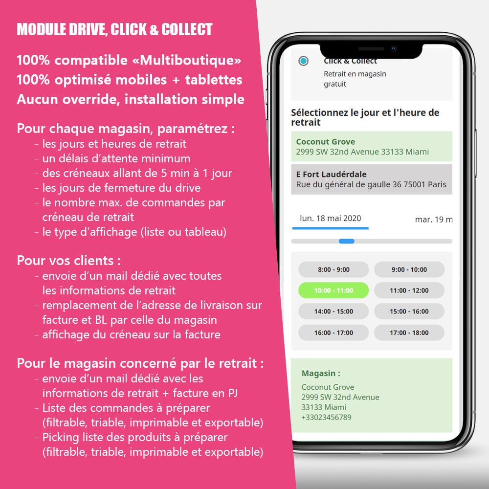 module - Point Relais & Retrait en Magasin - Drive et Click & Collect / Retrait magasin - 1