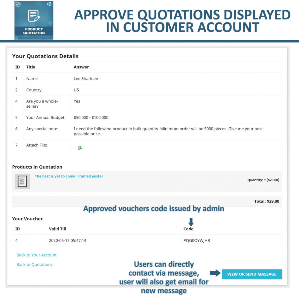 module - Quotes - Quotation - Allow Customer to Ask For Quote - 7