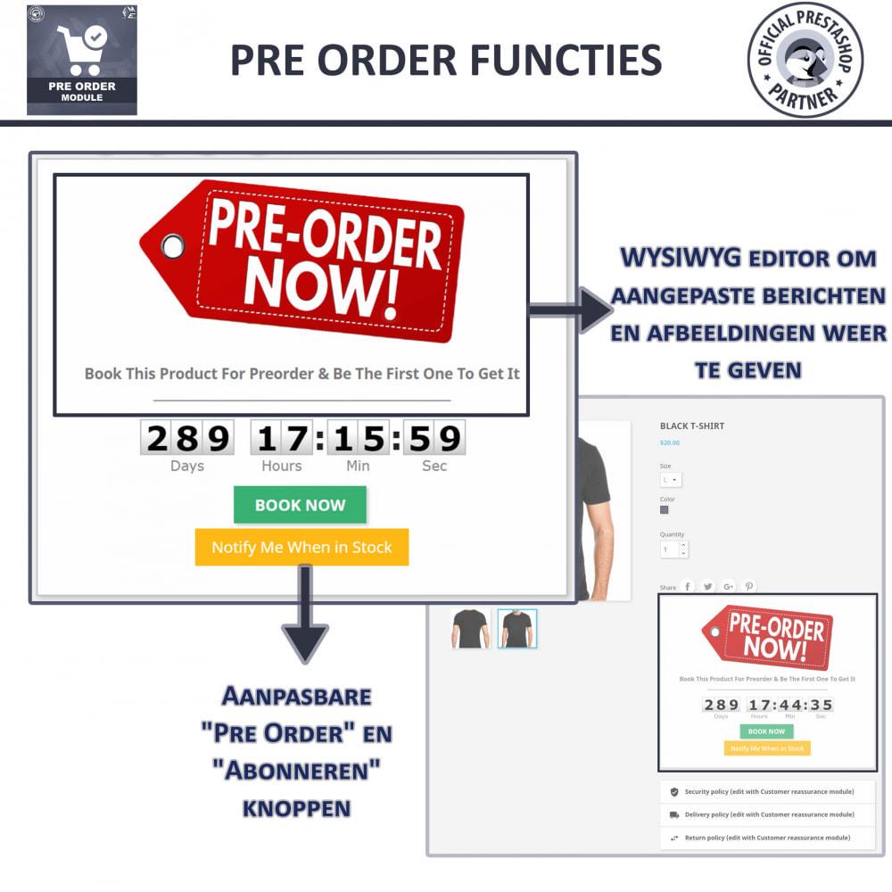 module - Registratie en Proces van bestellingen - Pre-Order - Advance Booking | Out of Stock Selling - 4