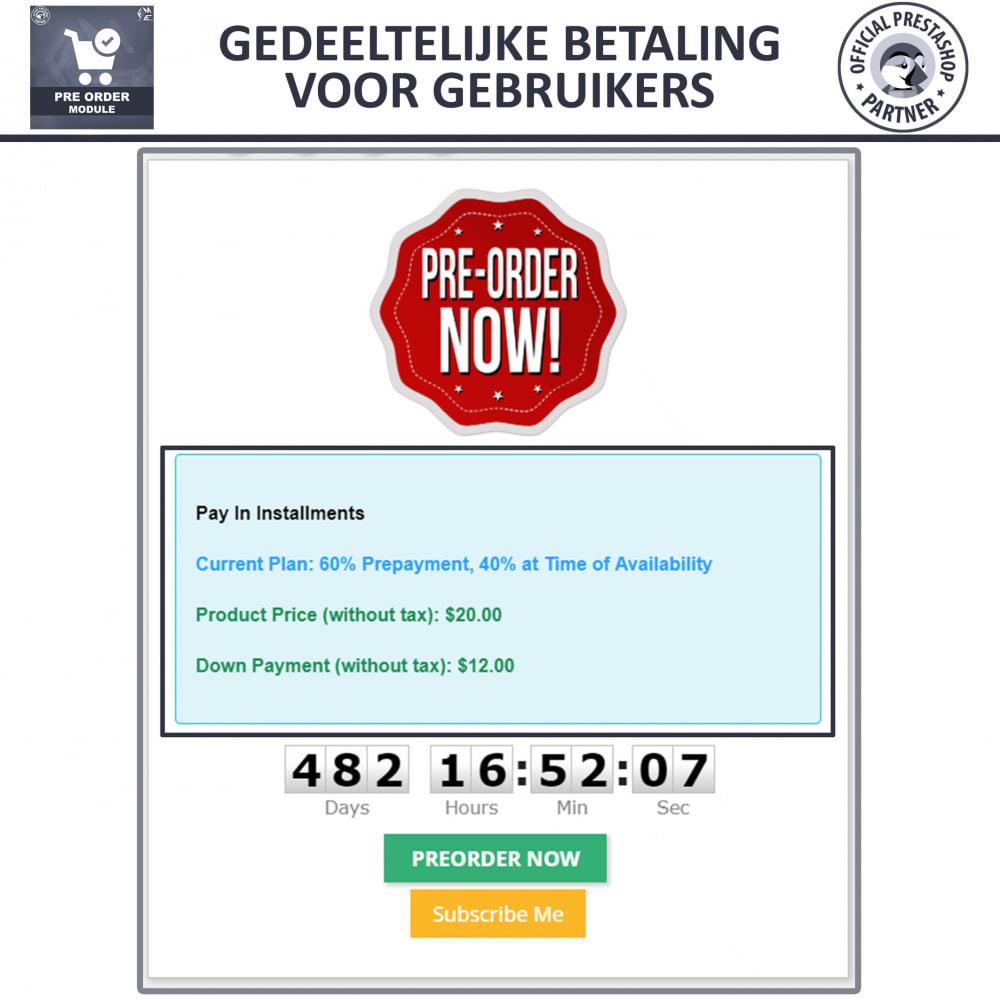 module - Registratie en Proces van bestellingen - Pre-Order - Advance Booking | Out of Stock Selling - 5