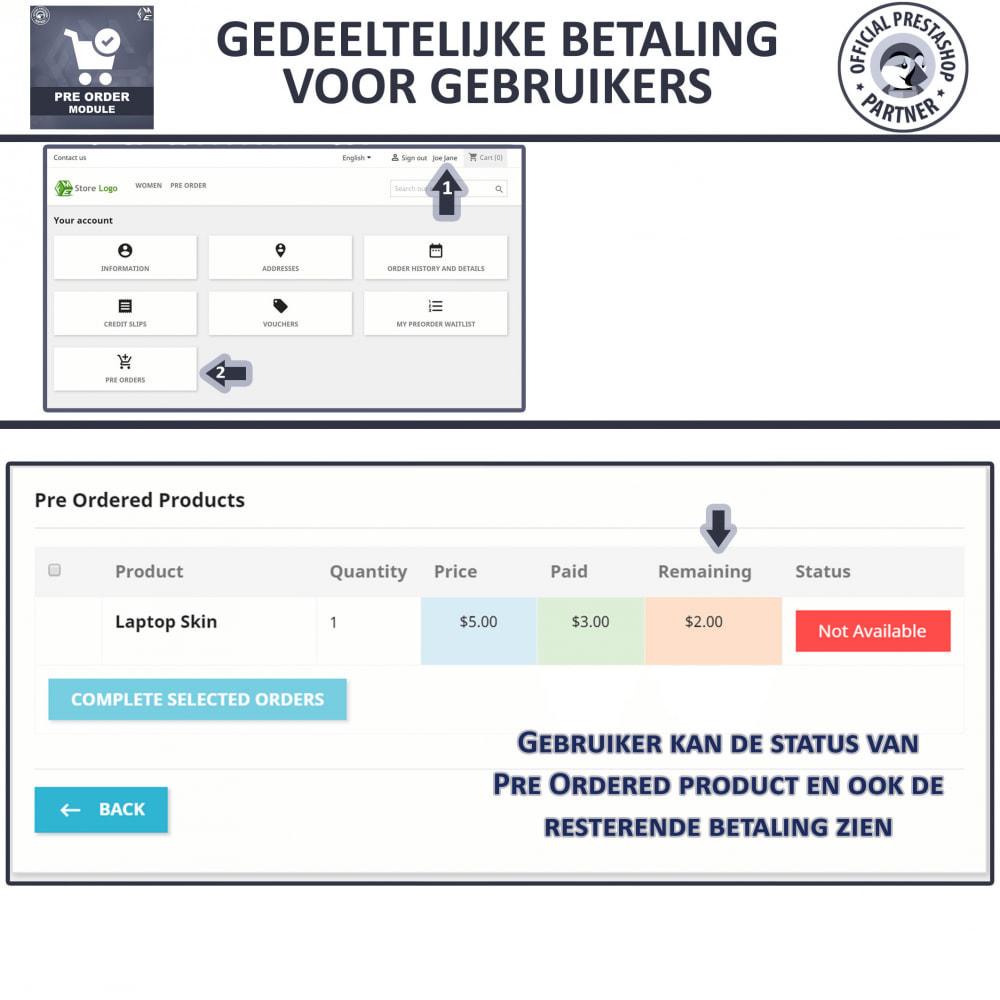 module - Registratie en Proces van bestellingen - Pre-Order - Advance Booking | Out of Stock Selling - 8