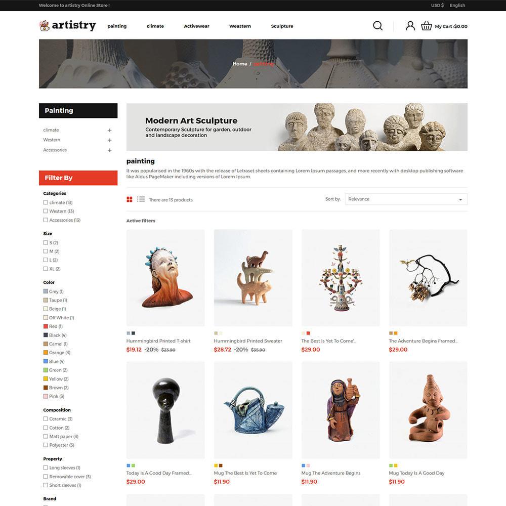theme - Искусство и Культура - Artist  - Paint  Handcraft Art Store - 3