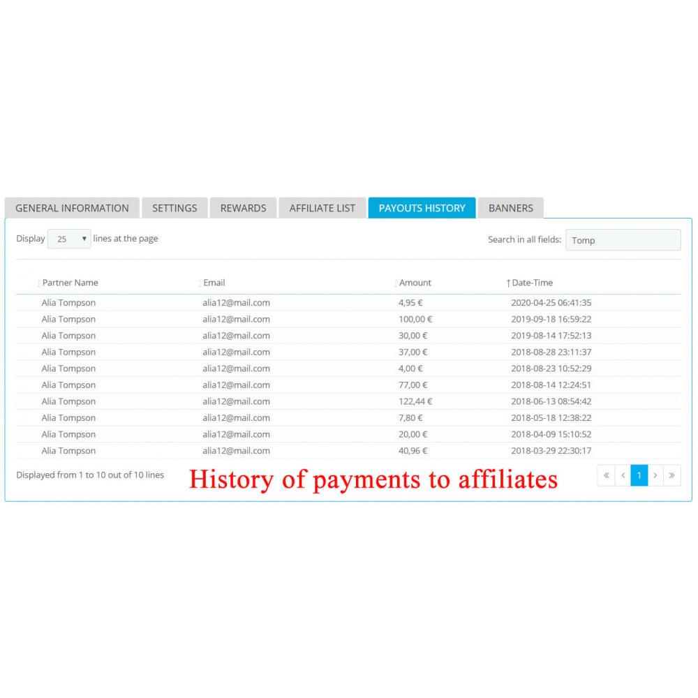 module - Indicizzazione a pagamento (SEA SEM) & Affiliazione - Extended Affiliate Program RefPRO - 8