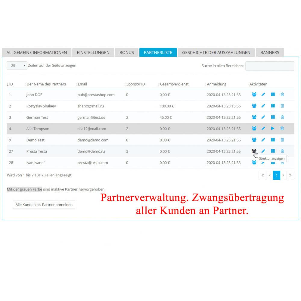 module - SEA SEM (Bezahlte Werbung) & Affiliate Plattformen - Das erweiterte Referenzprogramm RefPRO - 6