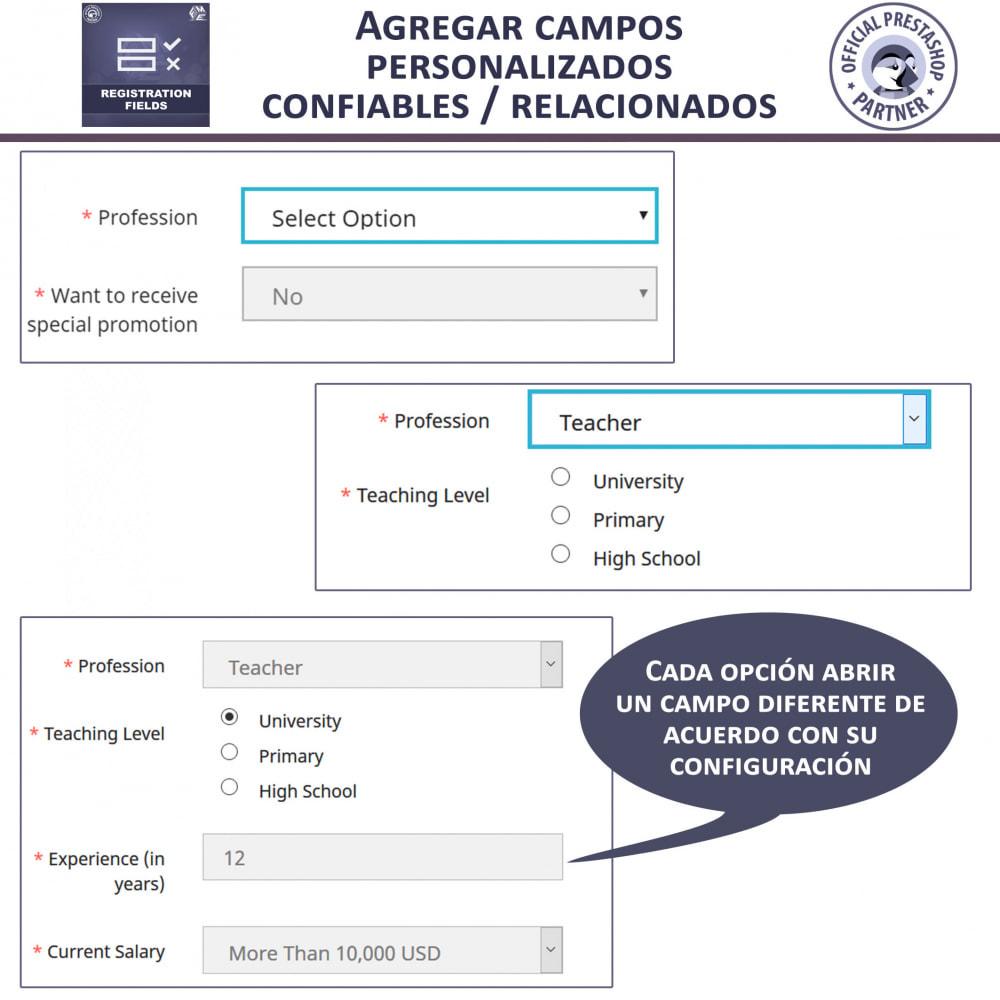 module - Inscripción y Proceso del pedido - Campos de Registro Personalizados - Validación - 3