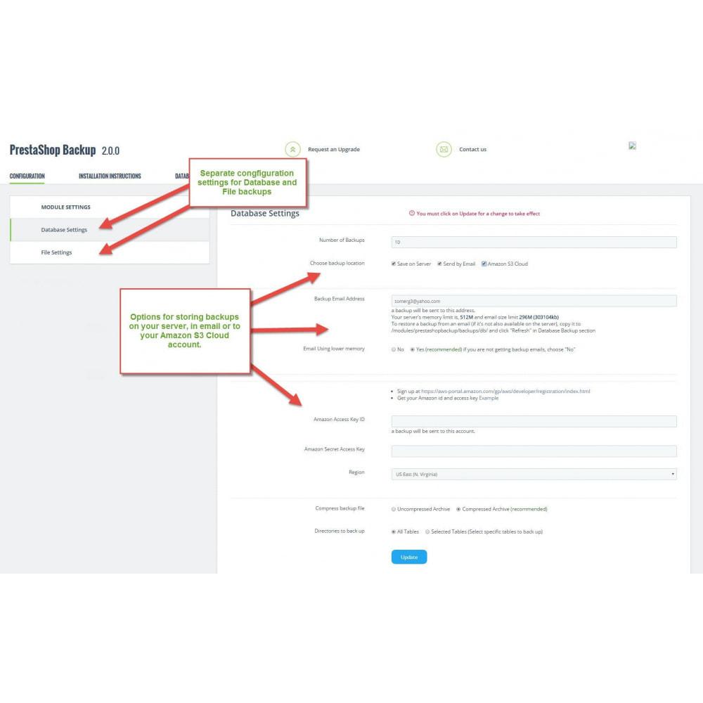 module - Data migration & Backup - Automatic PrestaShop Backup - 2