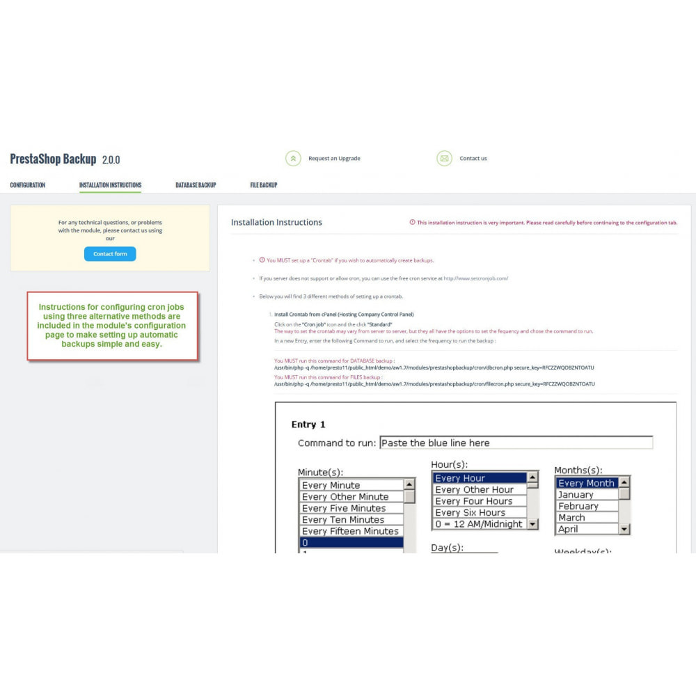 module - Data migration & Backup - Automatic PrestaShop Backup - 3