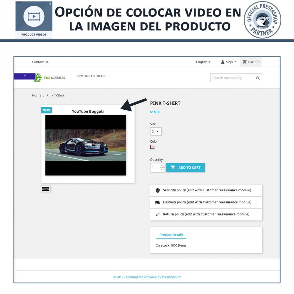 module - Vídeos y Música - Product Videos - Upload or Embed YouTube, Vimeo - 3