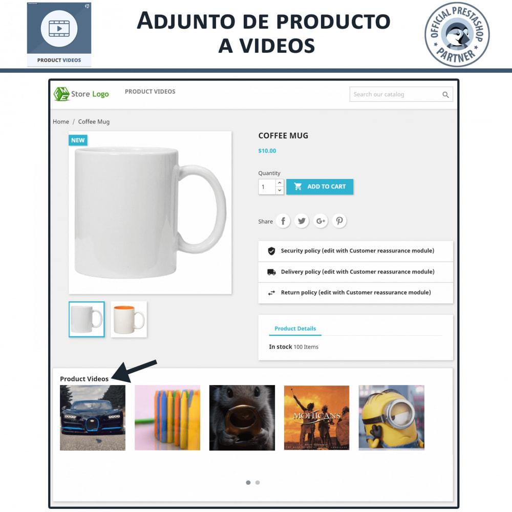 module - Vídeos y Música - Product Videos - Upload or Embed YouTube, Vimeo - 4