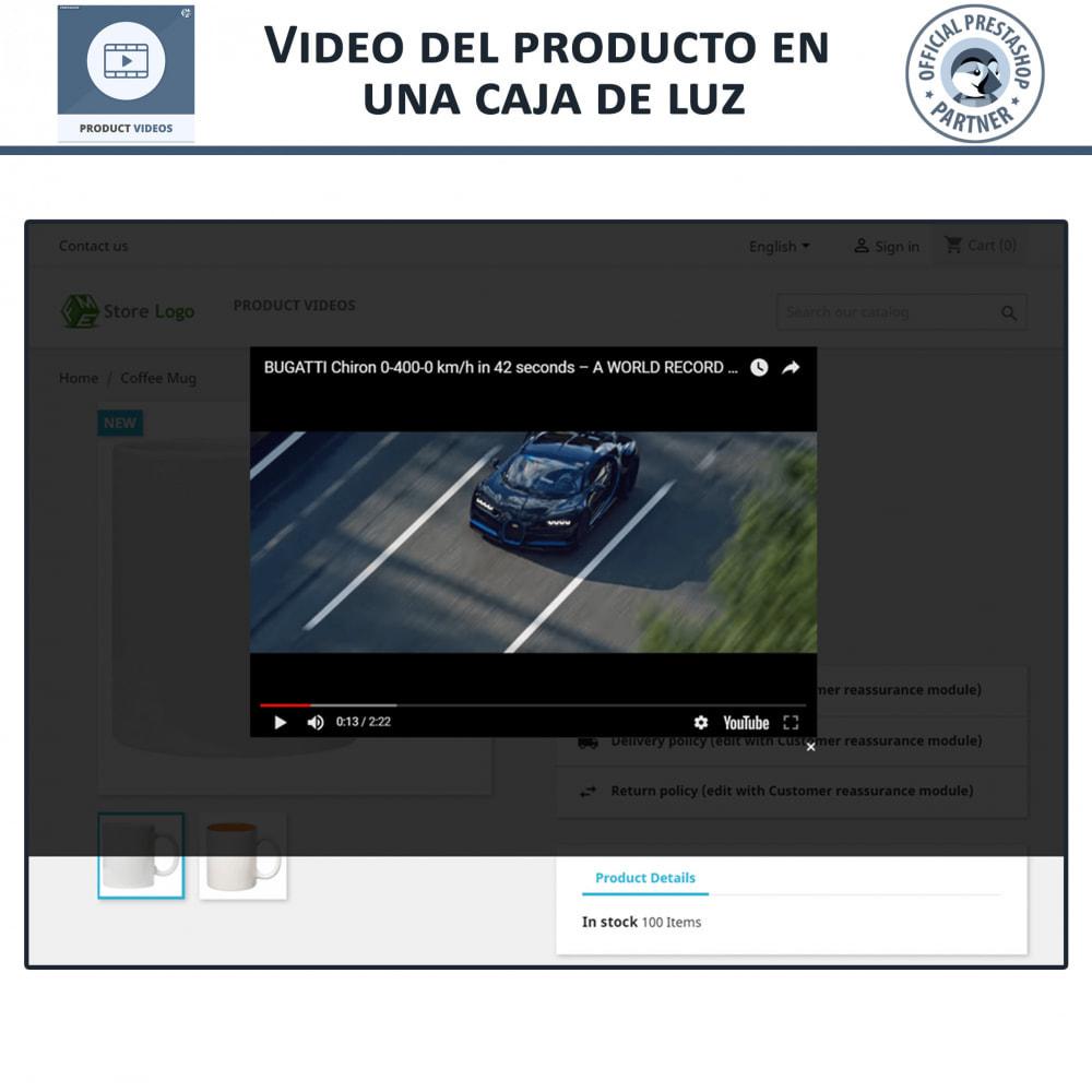 module - Vídeos y Música - Product Videos - Upload or Embed YouTube, Vimeo - 5