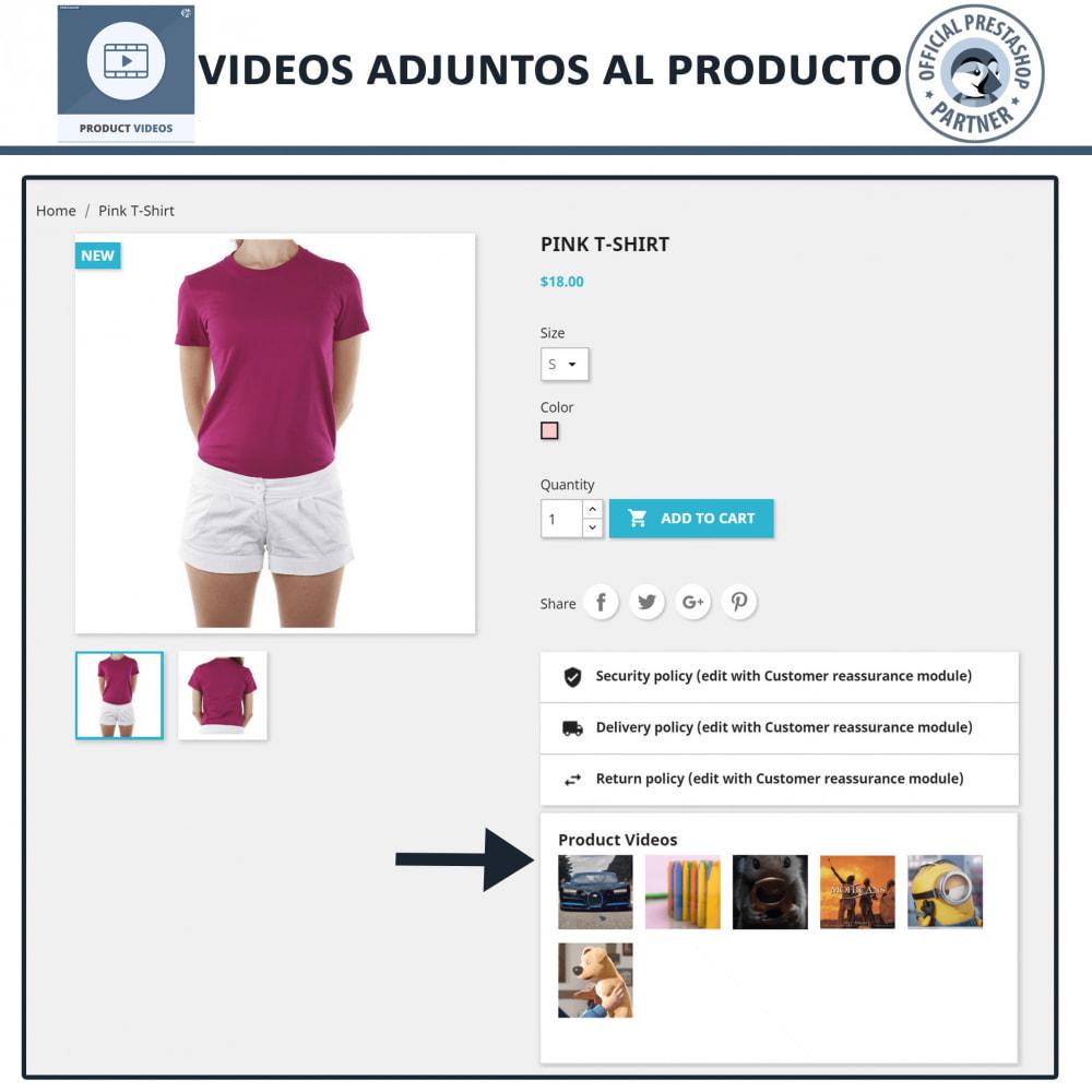 module - Vídeos y Música - Product Videos - Upload or Embed YouTube, Vimeo - 7