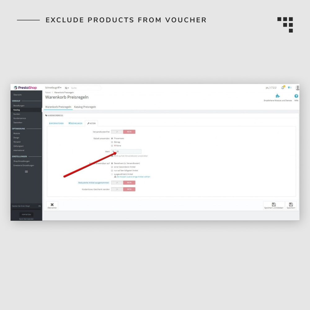 module - Promotion & Geschenke - Exclude Products from Voucher - 4