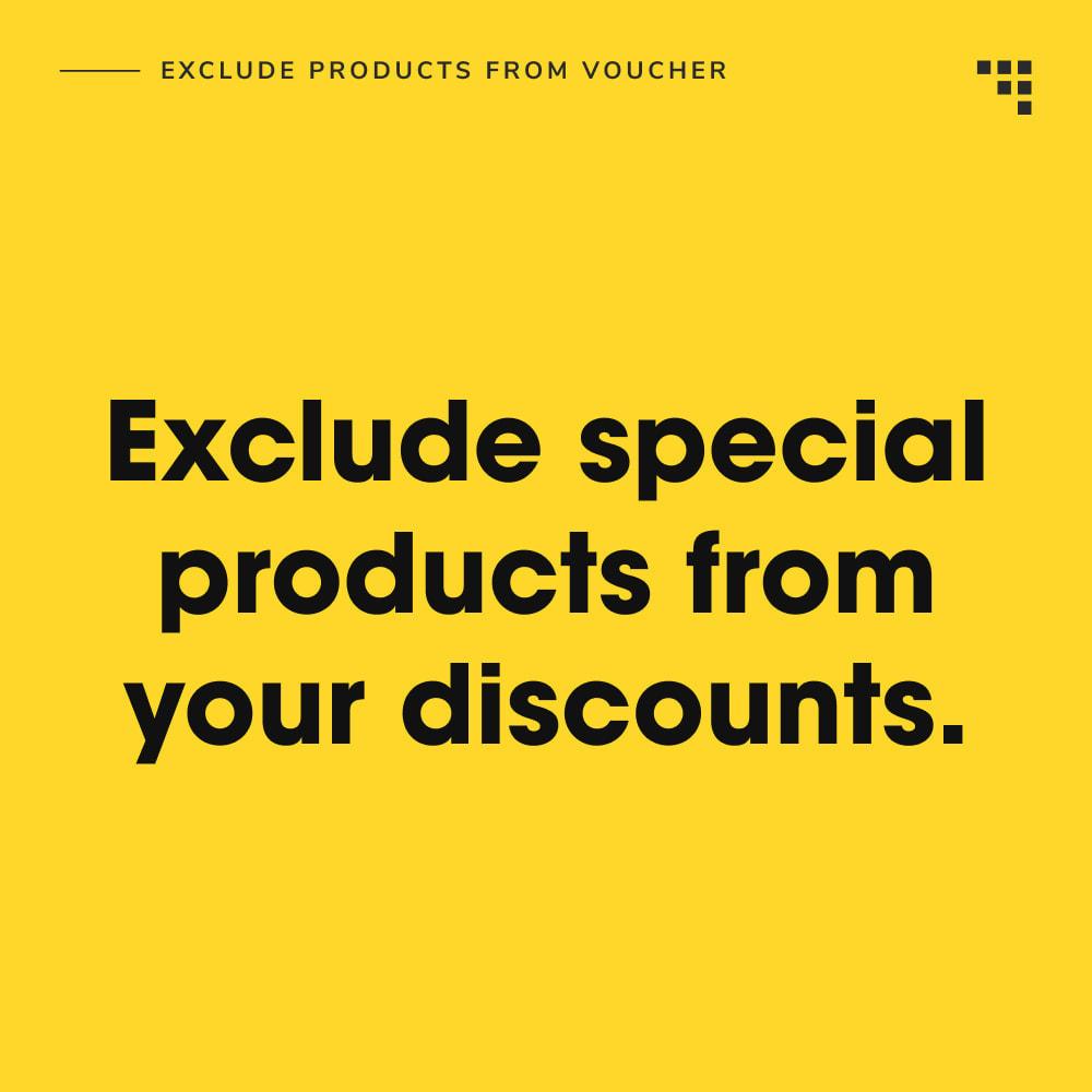 module - Promociones y Regalos - Exclude Products from Voucher - 2