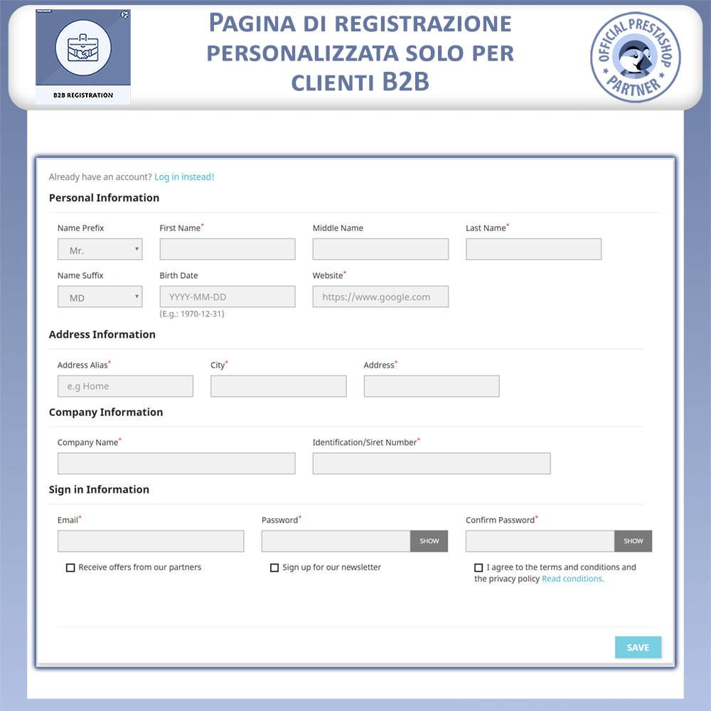 module - Iscrizione e Processo di ordinazione - Registrazione B2B - 4
